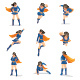 Female Superhero in Action - GraphicRiver Item for Sale