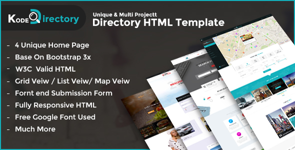Aladin Directory HTML Template