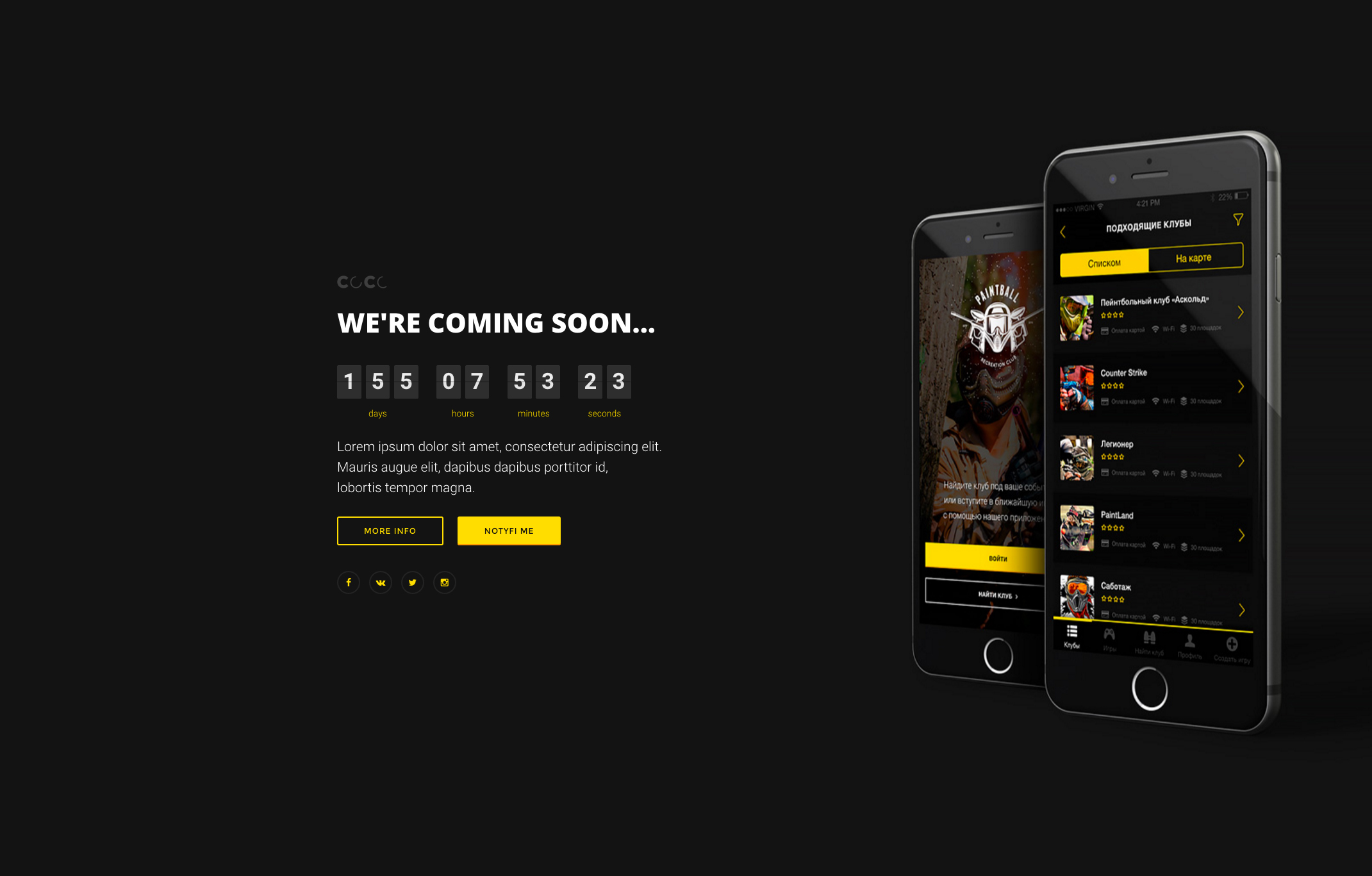 Coco 250 Responsive Html Multipurpose Under Construction Coming