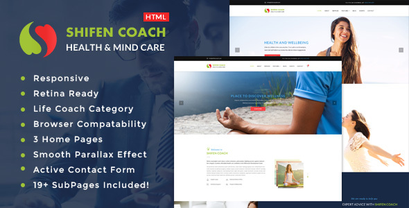Shifen Coach:HTML Template for Building any Life Coach Website