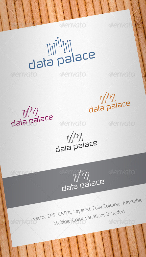 Data Palace Logo Template - Buildings Logo Templates