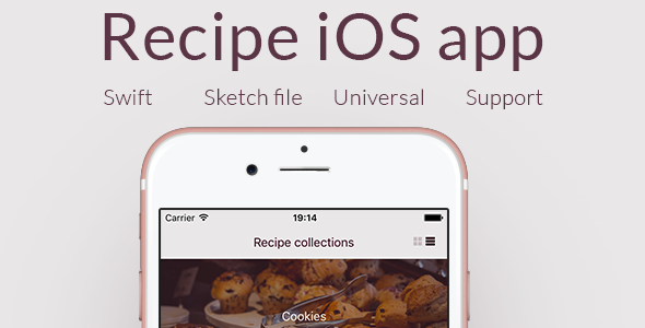 Recipe iOS app - Universal complete iOS app in Swift (Backend included) - CodeCanyon Item for Sale