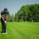 Young Male Playing Golf At The Golf Field - VideoHive Item for Sale