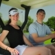 Couple Sitting In The Cart At The Golf Field - VideoHive Item for Sale