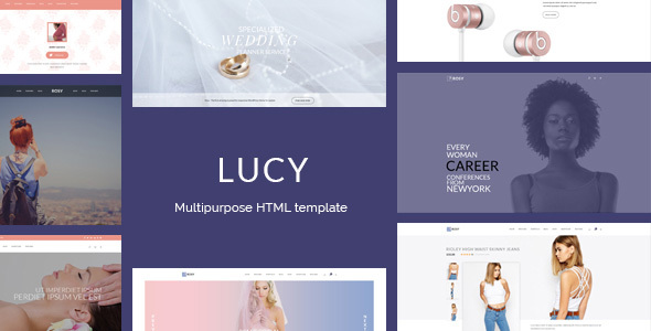 Lucy – Female readers focused multipurpose HTML template