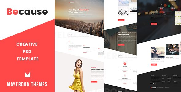 Because – Creative Psd Template