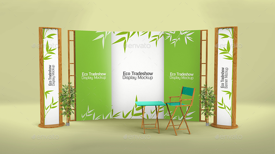 Simple Exhibition Stand Mockup : Exhibition stand mockup by expresa id graphicriver