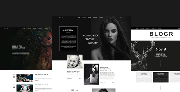 BLOGR – PSD template for Special BLOGGERS - Personal PSD Templates