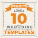 10 Wedding Invitation Card Templates - GraphicRiver Item for Sale