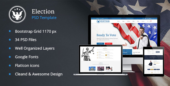 Elections - Political Law Business PSD Template