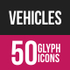 Vehicles Glyph Inverted Icons