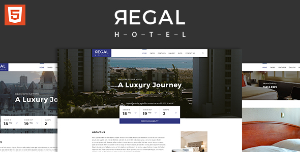 Regal – Hotel HTML5 Responsive Template