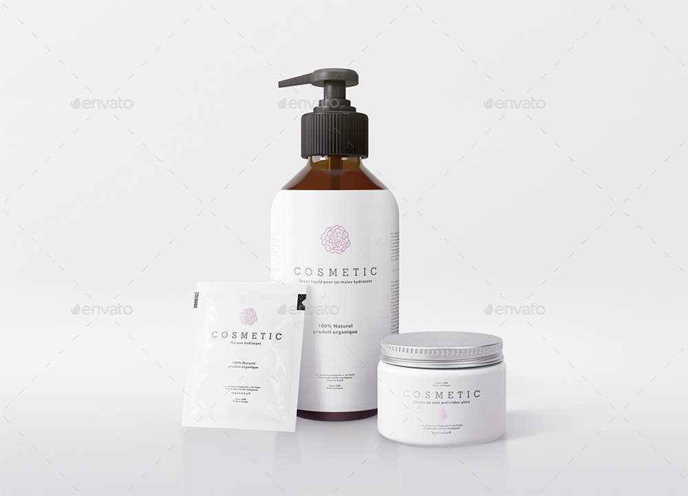 Natural Cosmetic Packaging Mock Ups Vol2