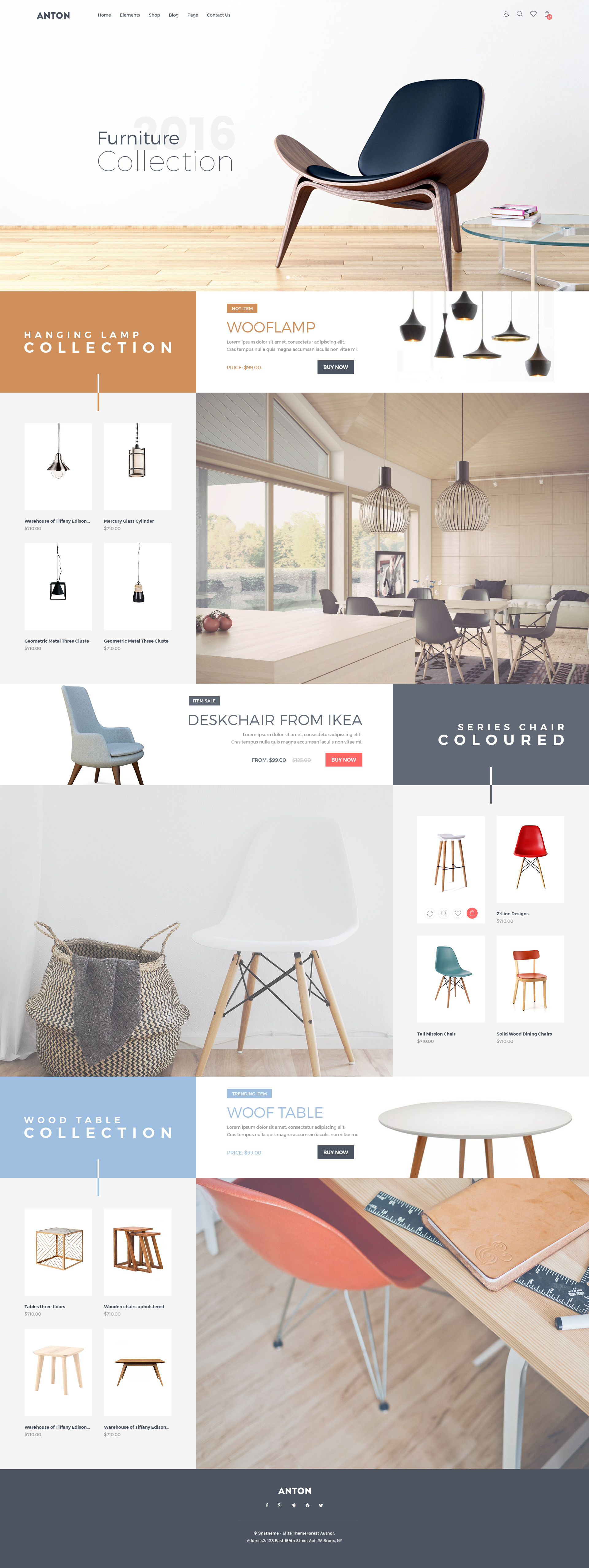 Anton Ecommerce Furniture PSD Template by snstheme | ThemeForest
