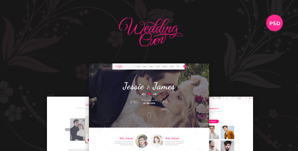 Themenum – Creative PSD Template for Wedding, Events, Wedding Planner and Couple - Entertainment PSD Templates
