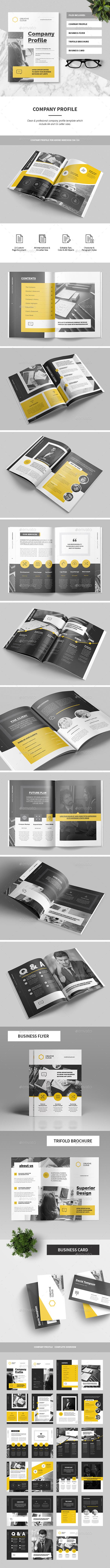 Company Profile Indesign Template Gallery - Template Design Ideas