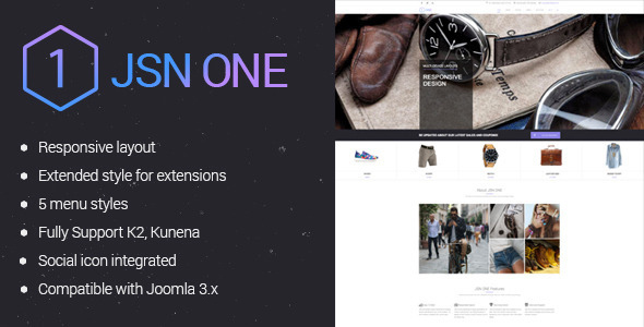 JSN One-Responsive Joomla E-commerce Template - Fashion Retail