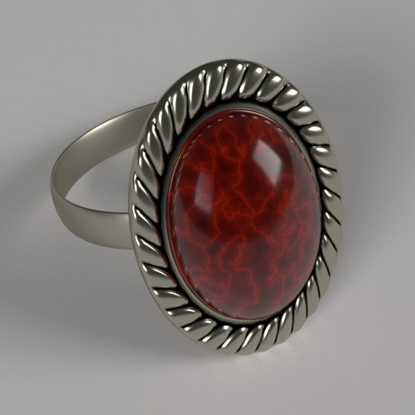 Silver Ring - 3DOcean Item for Sale