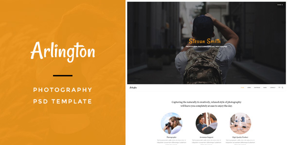 Arlington : Photography PSD Template - Business Corporate