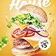 Burger Flyer Menu Template - GraphicRiver Item for Sale