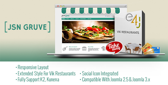JSN Gruve-Responsive Joomla Restaurant Template