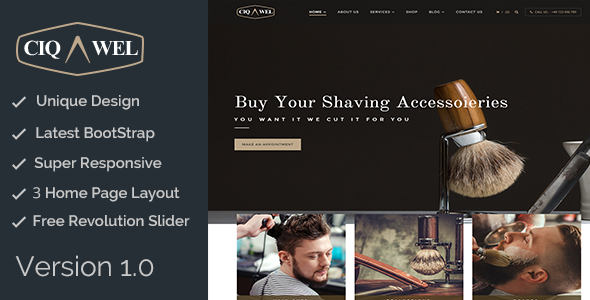 Cigawel - HTML Salon Template - Health & Beauty Retail