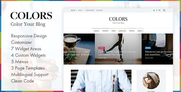 Colors – Simple Blog & Magazine WordPress Theme