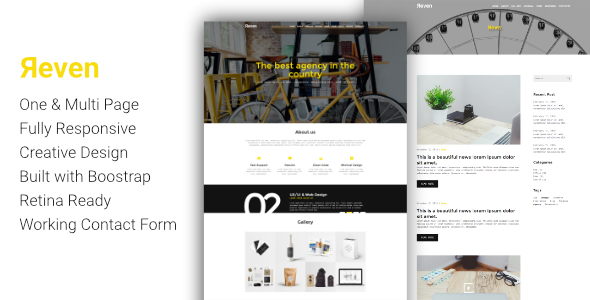 Reven - Creative Agency One & Multi Page HTML Template - Portfolio Creative