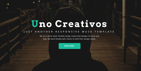 Uno – Creative One Page – Muse Template