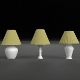 Abat-jours, 3 lamps (PBR materials, UV-unwrapped)