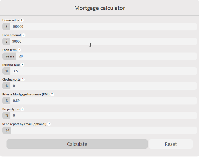 amortization for mortgage