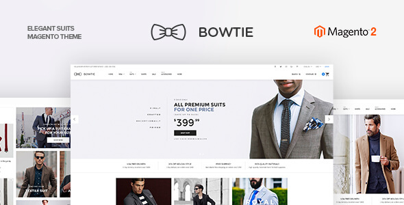 Bowtie - Clothes Magento 2 and Magento 1 Theme