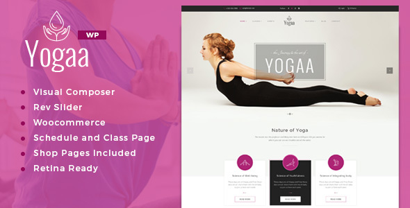 Yogaa – Healthy Beauty, Wellness & Yoga WordPress Theme