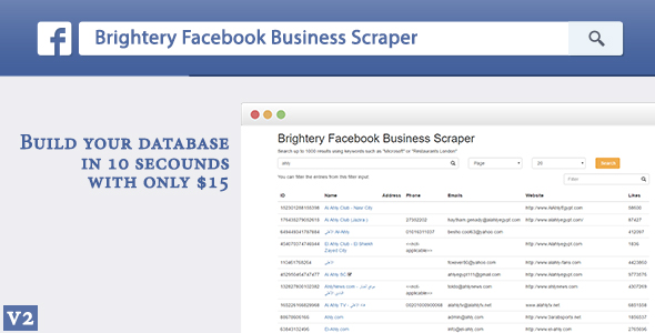 Brightery Basic Facebook Business Scraper - CodeCanyon Item for Sale