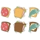 Cartoon Set Of Sandwiches With Different Stuffing - GraphicRiver Item for Sale