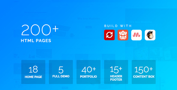 Matrox – Material Design Multi-Purpose HTML Template