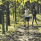 Two Athletic Young Adults jogging in a Park - VideoHive Item for Sale