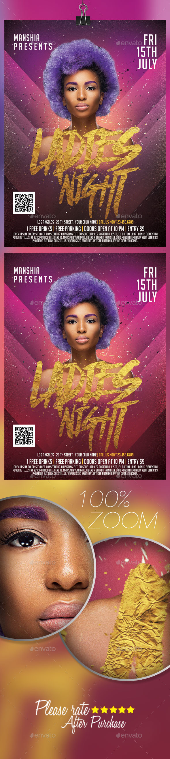 Ladies Night Flyer Templates - Clubs & Parties Events