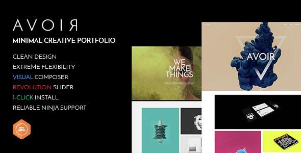 AVOIR Portfolio – Minimal Creative Portfolio
