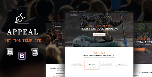 Appeal - Petition HTML5 Template - Activism Nonprofit
