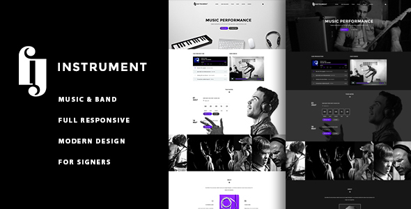 Instrument - Musicians, Deejays, Singers, Bands WordPress Theme - Music and Bands Entertainment