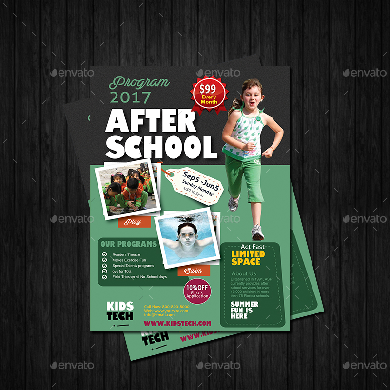 After School Program Flyer Templates By Designcrew Graphicriver