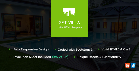 GetVilla – Single and Client Based Villa Booking HTML Template