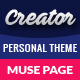 Creator - Personal Muse Template - ThemeForest Item for Sale