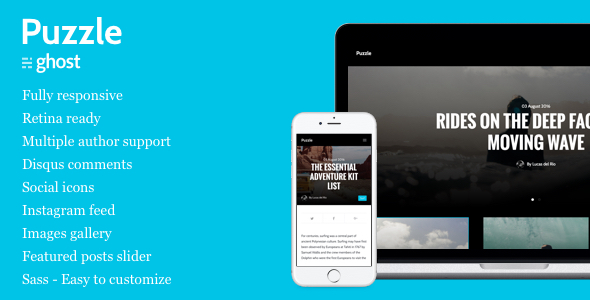 Puzzle – Responsive Ghost Blog Theme