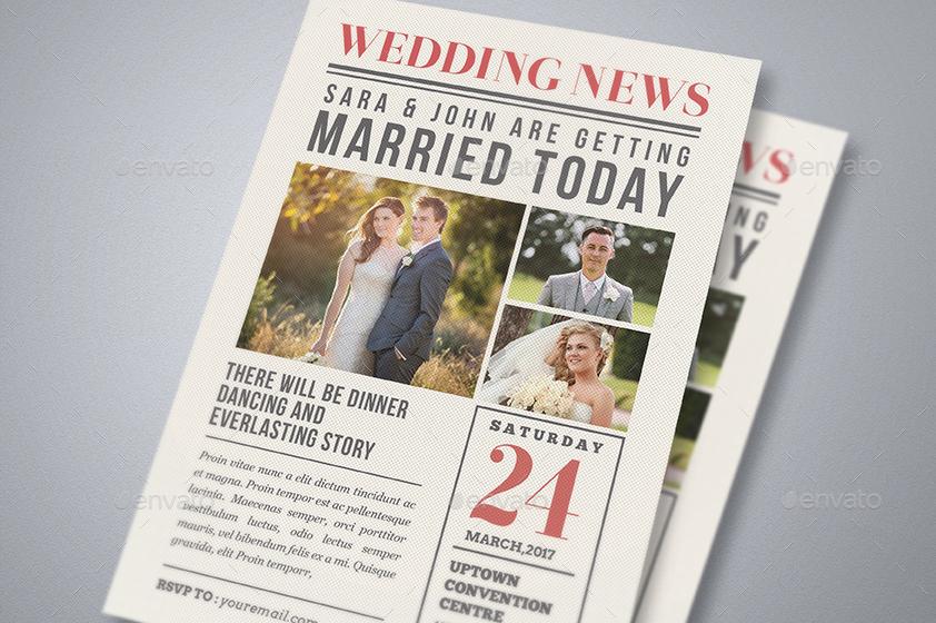 Newspaper Wedding Invitation By Guuver