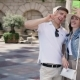 Young Couple Make a Selfie On The Background Of The Hotel - VideoHive Item for Sale