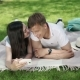Young Couple Make a Selfie On The Picnic - VideoHive Item for Sale