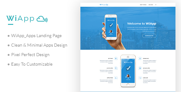 WiApp-Apps Landing Page Template