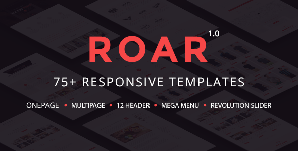 Roar - Modern Multipurpose HTML Template - Business Corporate